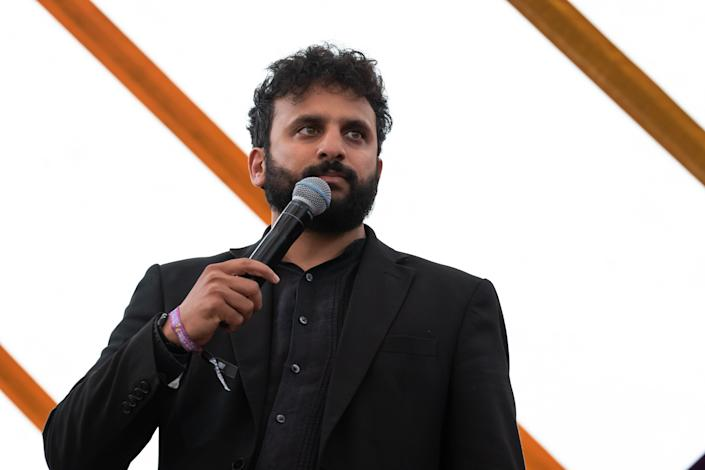 SOUTHWOLD, ENGLAND - JULY 19: Nish Kumar performs on the comedy stage during Latitude Festival 2019 at Henham Park on July 19, 2019 in Southwold, England. (Photo by Carla Speight/Getty Images)