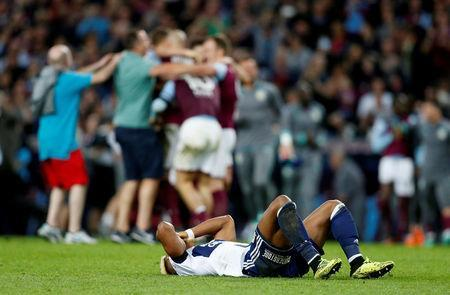 Soccer Football - Championship Play Off Semi Final Second Leg - Aston Villa v Middlesbrough - Villa Park, Birmingham, Britain - May 15, 2018 Middlesbrough's Adama Traore looks dejected after the match Action Images via Reuters/Ed Sykes