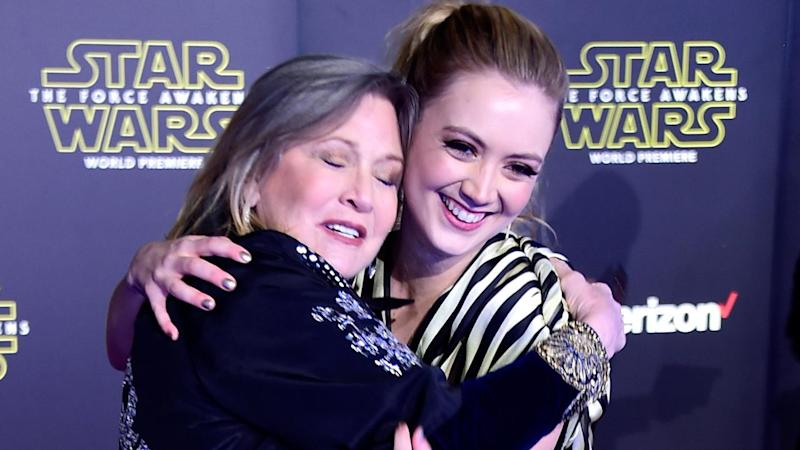 Billie Lourd Pays Tribute to Carrie Fisher as 'Star Wars: The Last Jedi' Premieres