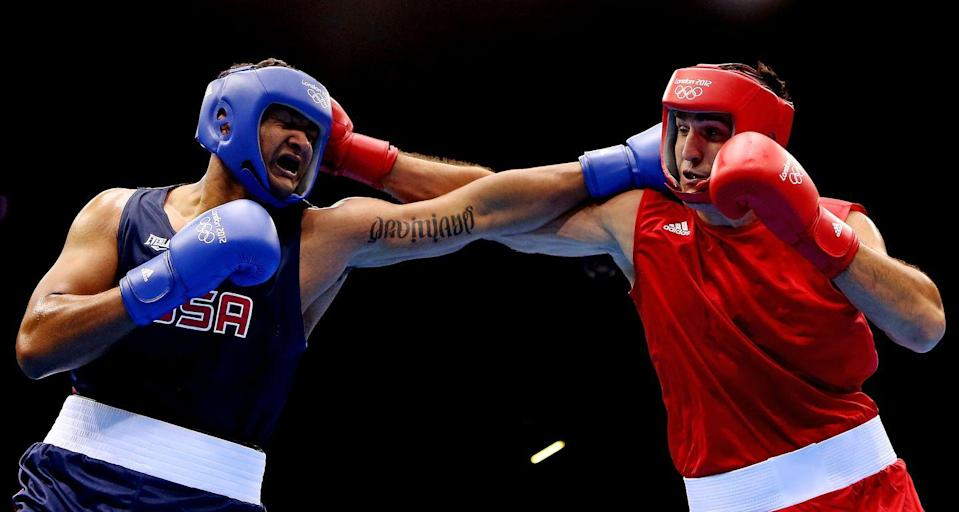 """<p>Competitors in the <a href=""""https://www.liveabout.com/boxing-olympic-rules-judging-and-officials-424010"""" rel=""""nofollow noopener"""" target=""""_blank"""" data-ylk=""""slk:boxing competition"""" class=""""link rapid-noclick-resp"""">boxing competition </a>must be clean shaven or have limited facial hair. That pencil mustache is a-go. </p>"""