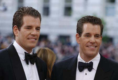 Entrepeneurs Tyler and Cameron Winklevoss arrive at the Met Gala in New York