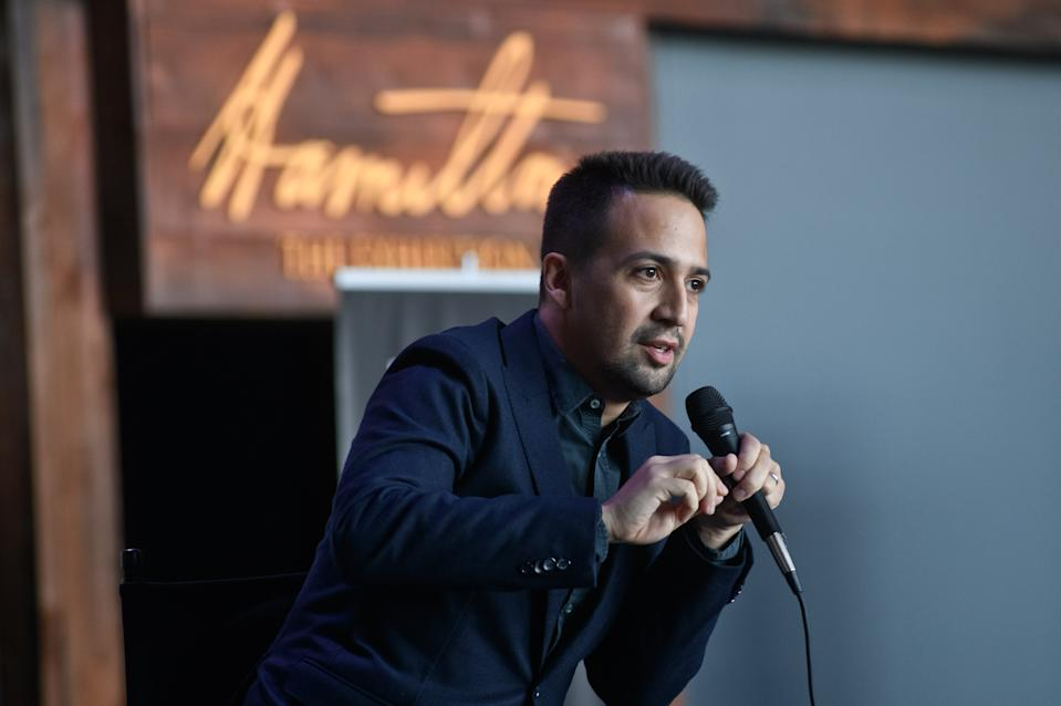 CHICAGO, IL - APRIL 26:  Lin-Manuel Miranda attends the Hamilton: The Exhibition world premiere at Northerly Island on April 26, 2019 in Chicago, Illinois.  (Photo by Timothy Hiatt/Getty Images)