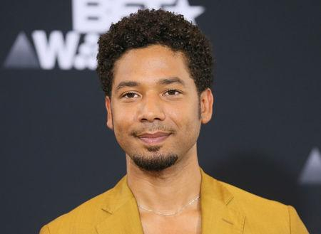FILE PHOTO: Jussie Smollett poses in the photo room at the 2017 BET Awards in Los Angeles, California, U.S., June 25, 2017.   REUTERS/Danny Moloshok/File Photo