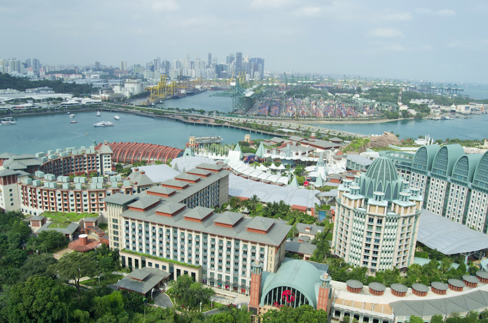Sentosa Island in Singapore is known for its luxury resorts (Picture: Rex)