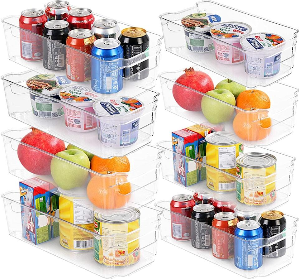 <p>From your pantry to your refrigerator, keep your kitchen organized with this <span>Utopia Home Set of 8 Pantry Organizers</span> ($22. originally $40). It includes a set of four large and four small organizers so you can fit all your produce, snacks, drinks, and more. </p>