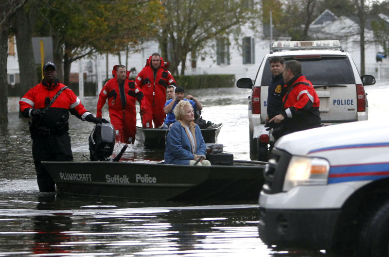 Sandy leaves death, damp and darkness in wake