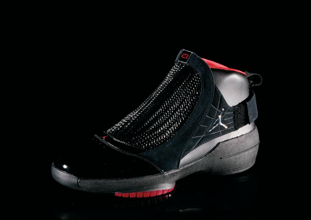 """<p>Air Jordan XIX - """"Full Flex"""" (2004): The first shoe after Jordan's final retirement, MJ helped in the design of the flexible upper portion of the shoe. This is the most lightweight of all the Air Jordans. (Photo Courtesy of Nike)</p>"""