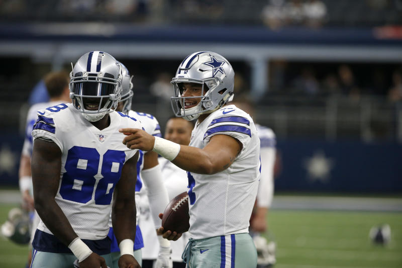 Dez and Dak won't be a tandem anymore as the Cowboys released wide receiver Dez Bryant (L) on Friday. (AP)