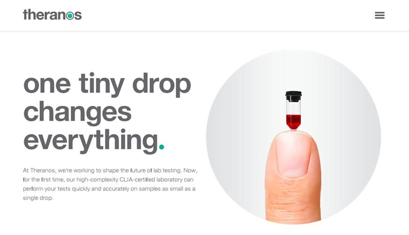 A Theranos ad. (Source: Theranos)