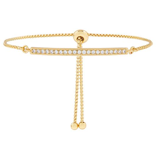 Gold Plated Bracelet with Cubic Zirconia. Image via Accessorize.