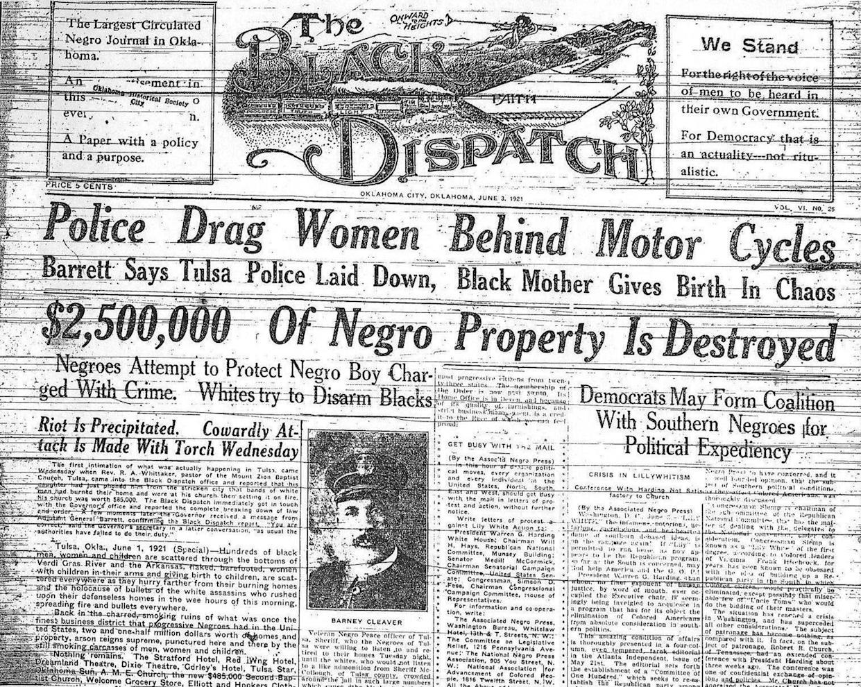 An edition of the Black Dispatch newspaper