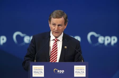 Irish Prime Minister Enda Kenny takes part in a European People Party  summit in St Julian's