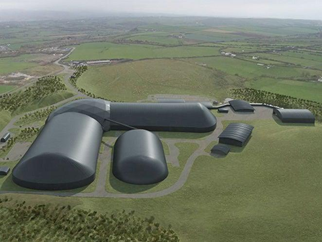 <p>An artist's impression of the proposed coal mining facility in Copeland</p> (West Cumbria Mining)