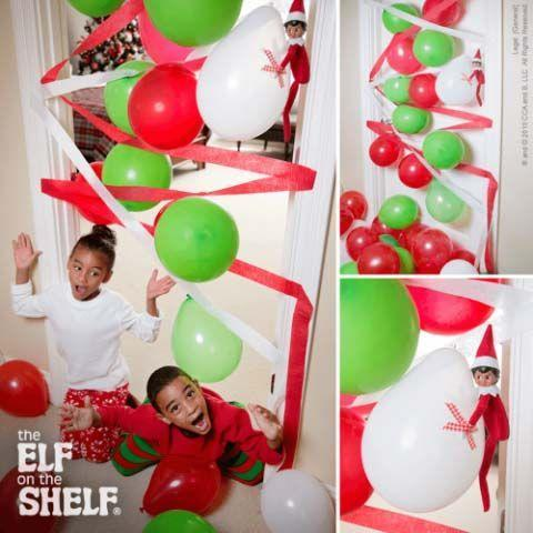 """<p>This fun idea only takes balloons, crepe paper, and tape, and your kids will think it's so fun!</p><p><strong>Get the tutorial at <a href=""""https://www.elfontheshelf.com/elf-ideas/balloon-blockade"""" rel=""""nofollow noopener"""" target=""""_blank"""" data-ylk=""""slk:The Elf on the Shelf"""" class=""""link rapid-noclick-resp"""">The Elf on the Shelf</a>.</strong></p><p><strong><a class=""""link rapid-noclick-resp"""" href=""""https://www.amazon.com/Coceca-Streamers-Ceremony%EF%BC%8C-Festivals-Decoration/dp/B06ZXZ9FWC/ref=sr_1_2_sspa?tag=syn-yahoo-20&ascsubtag=%5Bartid%7C10050.g.22690552%5Bsrc%7Cyahoo-us"""" rel=""""nofollow noopener"""" target=""""_blank"""" data-ylk=""""slk:SHOP CREPE PAPER"""">SHOP CREPE PAPER</a><br></strong></p>"""