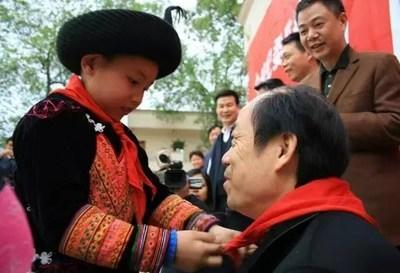 Mr. Yang inspecting the poverty alleviation project in Mabian Yi Autonomous County, Sichuan province (PRNewsfoto/Country Garden Holdings)