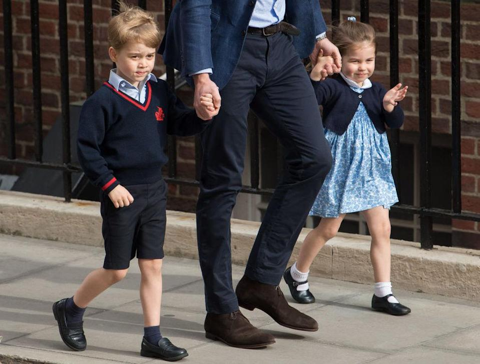Prince George and Princess Charlotte have seen their names rise in popularity. (Photo: Getty)