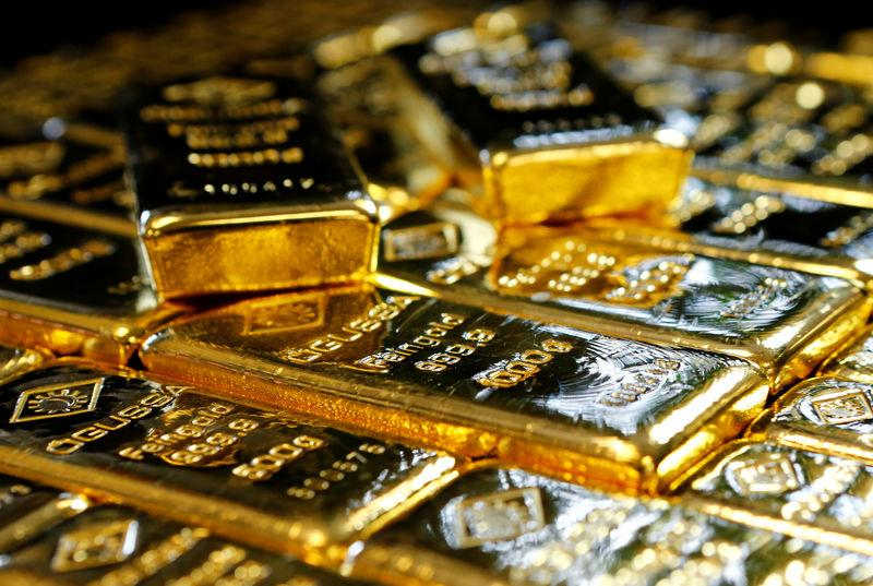 Gold eases on firm equities; markets brace for Fed decision