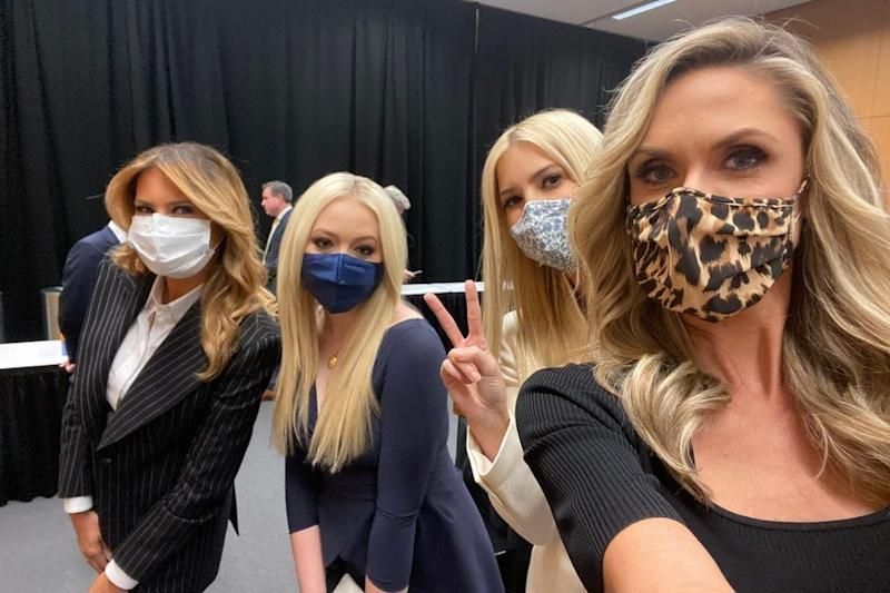 Donald Trump's Family Forgot to Wear Masks During the US Presidential Debate, But Not for Selfies
