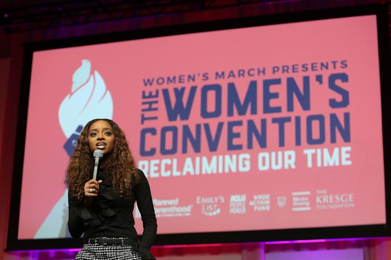 Tamika Mallory speaks at The Women's Convention.
