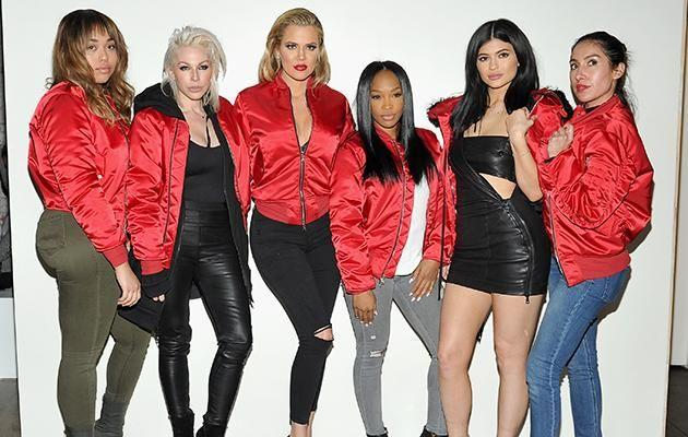 She's the hairstylist to some of the most famous people on the planet. Here she is pictured with Kylie, Khloe and friends. Photo: Getty