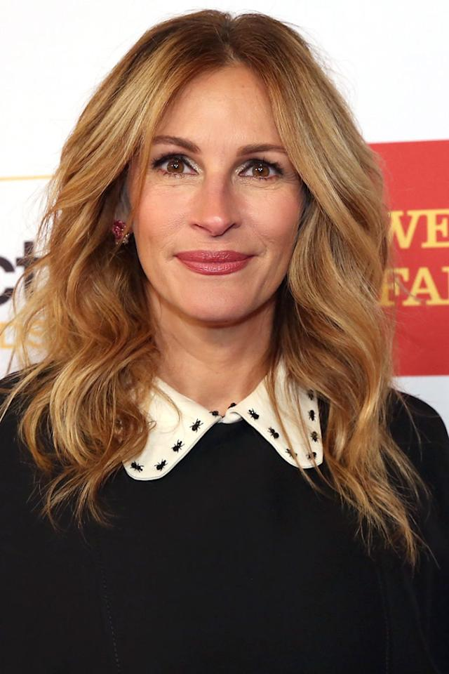 <p>Julia Roberts</p><p>A multi-dimensional mix of honey and copper tones look natural on Julia Roberts's signature tousled waves.</p><p><span></span></p>