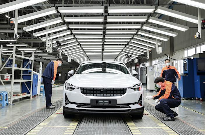 Polestar 2 production at Volvo's Luqiao plant.