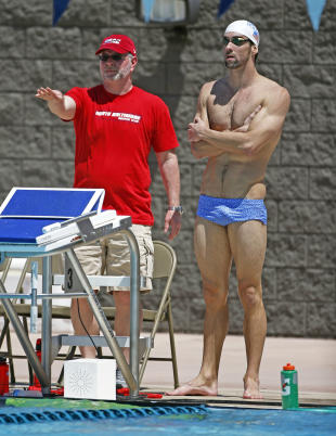 Camp Bowman: Michael Phelps and world's elite swimmers sign