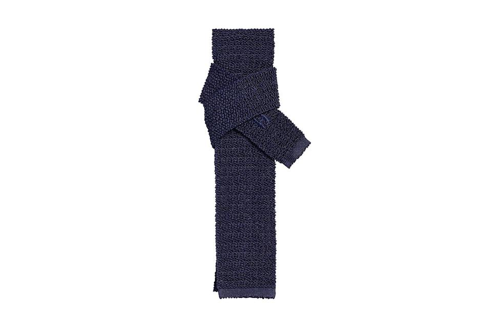 """A silk knit tie is the Switzerland of neckwear. It doesn't go with some of the collared shirts in your closet—it goes with all of them. Hermès' take on the classic is especially crowd-pleasing.<br> <br> <em>Hermès Tricot de Soie tie</em> $145, Hermès. <a href=""""https://www.hermes.com/us/en/product/tricot-de-soie-tie-H903019Tv02/"""" rel=""""nofollow noopener"""" target=""""_blank"""" data-ylk=""""slk:Get it now!"""" class=""""link rapid-noclick-resp"""">Get it now!</a>"""