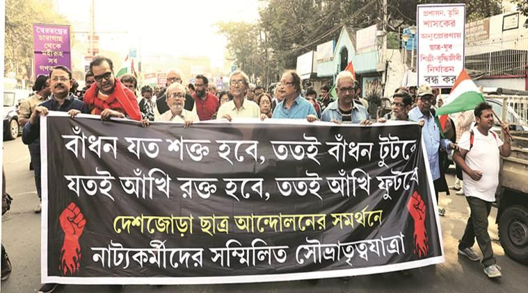 Theatre artistes rally against CAA, state BJP chief says protest against his party