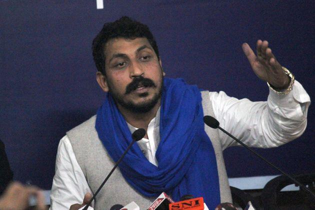 Bhim Army Chief Chandrashekhar Azad during a press conference at Indian Women's Press Club, on January 17, 2020 in New Delhi, India.