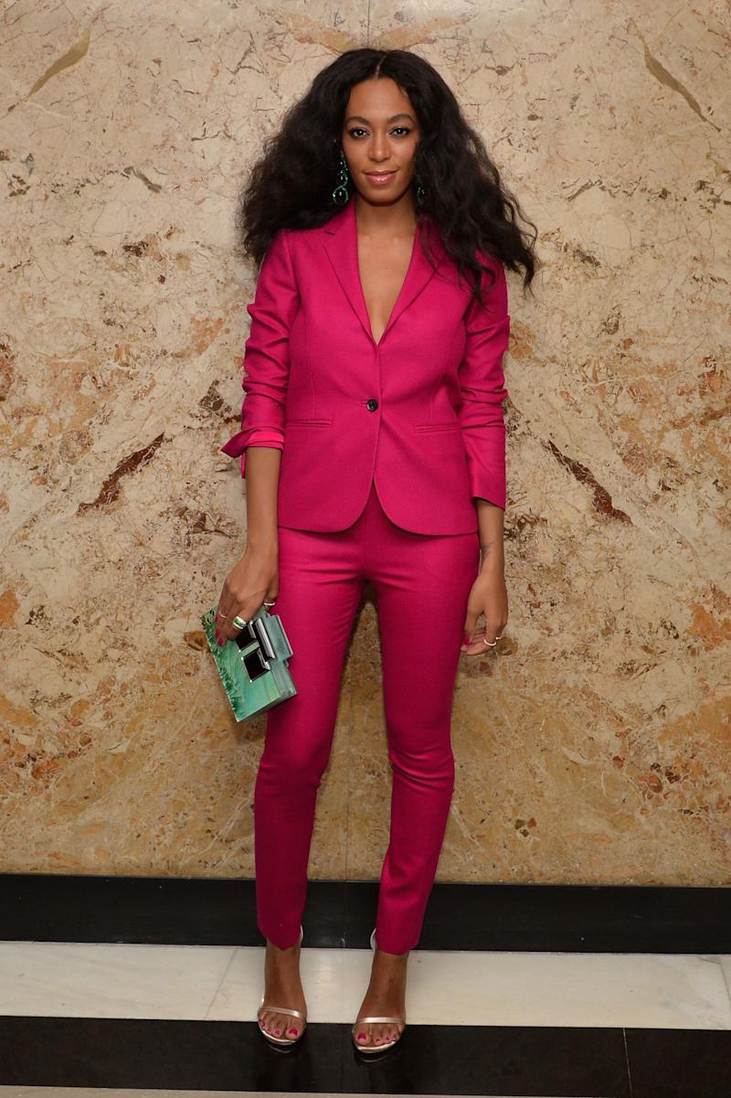 Solange atthe Gucci beauty launch in New York City on June 4, 2014.