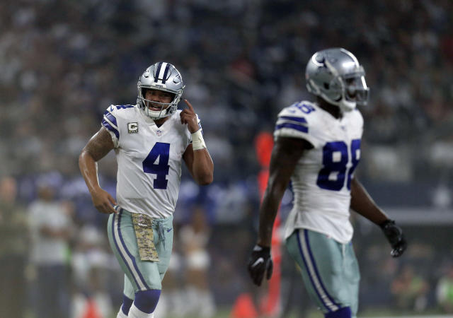 "Dak Prescott said on Saturday that he was not consulted about Dez Bryant's release from the Dallas Cowboys, calling it ""sad news."" (AP)"
