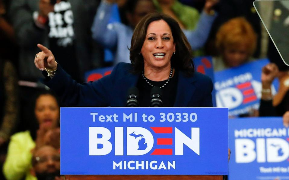 Kamala Harris could be announced as Joe Biden's pick for Vice President in the coming days - AP