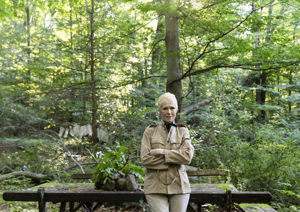 E. Jean Carroll at her home in Warwick, N.Y. (Eva Deitch / The Washington Post/Getty Images)