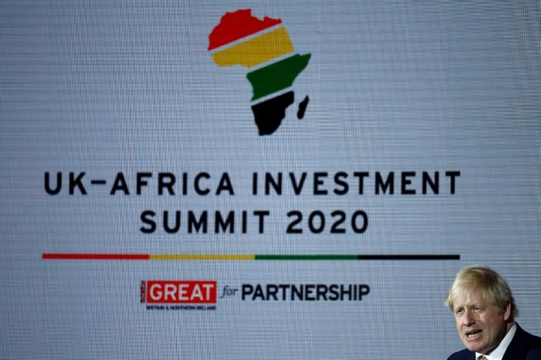 """British Prime Minister Boris Johnson says he wants to make the UK the """"investment partner of choice"""" for African countries"""