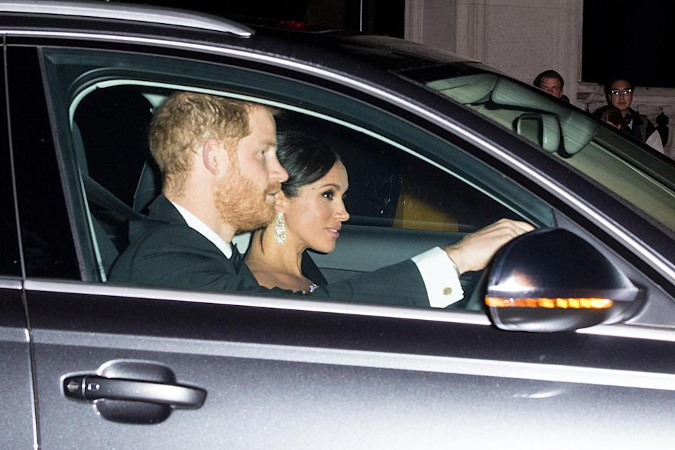 The Duke and Duchess of Sussex arrive (PA)