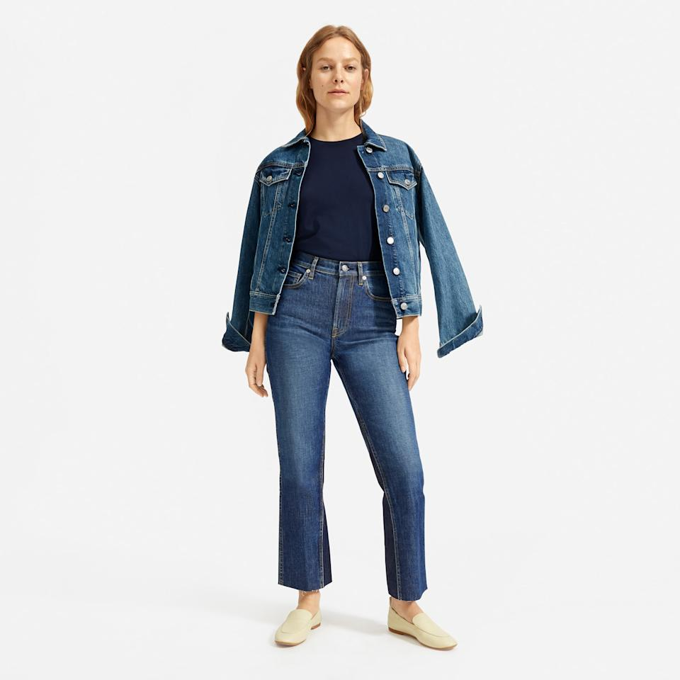Save 30% on The Cheeky Bootcut Jean. Image via Everlane.