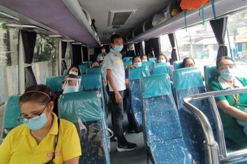 10 OPAV buses continue to give free ride for Cebu's health workers