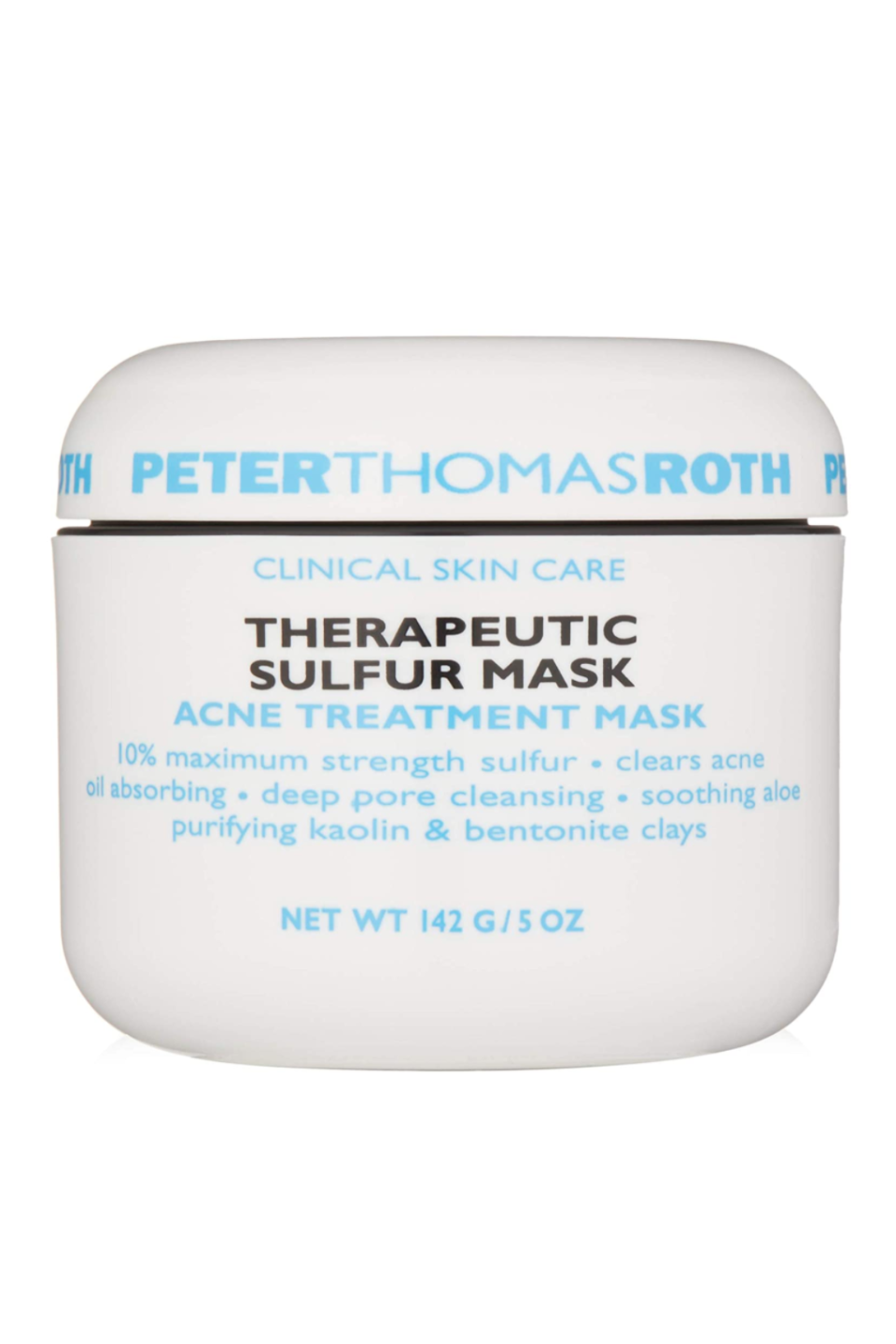 "<p><strong>Peter Thomas Roth</strong></p><p>amazon.com</p><p><strong>$52.00</strong></p><p><a href=""https://www.amazon.com/dp/B008MIFO94?tag=syn-yahoo-20&ascsubtag=%5Bartid%7C10058.g.35927175%5Bsrc%7Cyahoo-us"" rel=""nofollow noopener"" target=""_blank"" data-ylk=""slk:SHOP IT"" class=""link rapid-noclick-resp"">SHOP IT</a></p><p>Sulfer is a potent purifying, and this mask blends it with two types of clay to treat bad breakouts. Hot tip: add some to your shoulders if you suffer from back-ne. </p>"