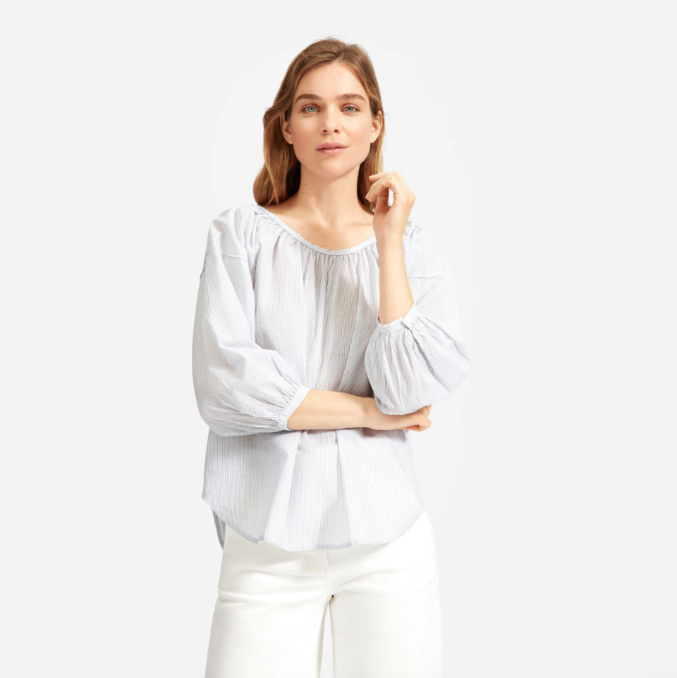 The Ruched Air Shirt. Image via Everlane.