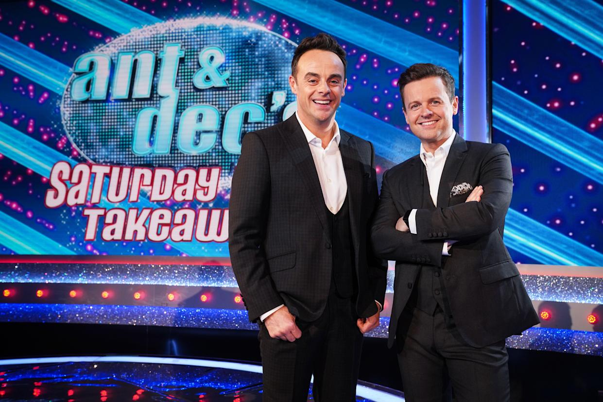 Ant and Dec's Saturday Night Takeaway. (ITV)