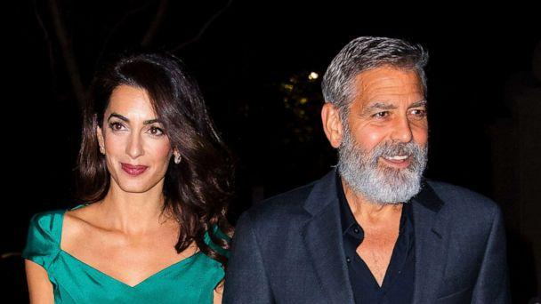 PHOTO: Amal Clooney and George Clooney are seen in New York City on Oct. 1, 2019.  (Jackson Lee/GC Images, FILE)