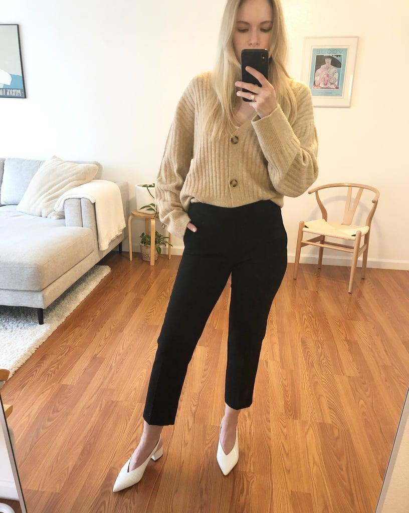 """<p><strong>Item:</strong> <span>Old Navy Mid-Rise Pull-On Straight Pants</span> ($13, originally $35) </p><p><strong>What our editor said:</strong> """"Ever since I purchased them, I can't stop telling my coworkers and friends how impressed I am by the quality. Not only do they feel nice, but they look great, too. They are so flattering and hit me in all the right places. My favorite feature is the elastic waistband. I literally put them on and take them off like sweatpants, and there's no fuss having to deal with zippers or buttons. That said, though, you can't even tell they have an elastic waistband because it is only in the back, so they look much more expensive. . . . The affordable price and quality make these a win-win."""" - KJ<br></p> <p>If you want to read more, here is <a href=""""https://www.popsugar.com/fashion/most-comfortable-work-pants-from-old-navy-47218303"""" class=""""link rapid-noclick-resp"""" rel=""""nofollow noopener"""" target=""""_blank"""" data-ylk=""""slk:the complete review"""">the complete review</a>.</p>"""