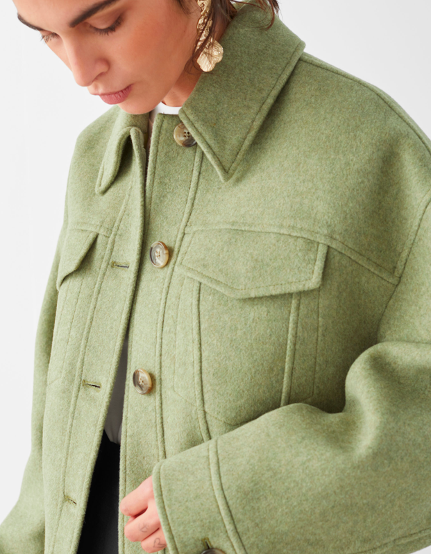 "Go green with this wool-blend collared jacket that will match your <a href=""https://www.glamour.com/gallery/houseplants-for-beginners?mbid=synd_yahoo_rss"" rel=""nofollow noopener"" target=""_blank"" data-ylk=""slk:houseplants"" class=""link rapid-noclick-resp"">houseplants</a> perfectly. $179, & Other Stories. <a href=""https://www.stories.com/en_usd/clothing/jackets-coats/jackets/product.topstitched-wool-blend-jacket-green.0829228002.html"" rel=""nofollow noopener"" target=""_blank"" data-ylk=""slk:Get it now!"" class=""link rapid-noclick-resp"">Get it now!</a>"
