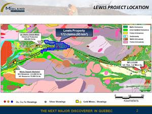 Lewis project location