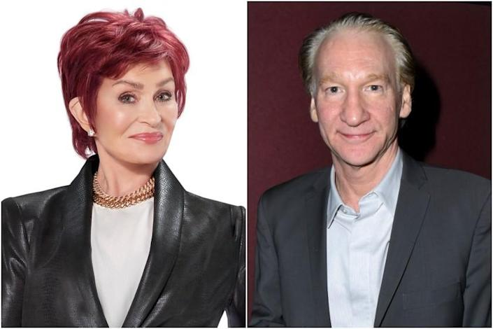 Talk show hosts Sharon Osbourne and Bill Maher.