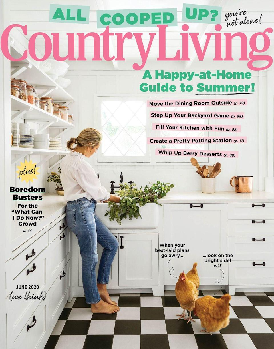 """<p>(Hint, hint: We know a good one!) But seriously, there's something that's just leisurely and relaxing about thumbing through a magazine, and you and your mom can do that over the phone as you discuss whether you should paint your kitchen the color on page 81 or whether you should start collecting Cornishware. If she doesn't already subscribe, you can surprise her with a <em>Country Living</em> gift subscription <a href=""""https://subscribe.hearstmags.com/subscribe/splits/countryliving/clg_gift_nav_link?source=clg_edletter_gift"""" rel=""""nofollow noopener"""" target=""""_blank"""" data-ylk=""""slk:here"""" class=""""link rapid-noclick-resp"""">here</a>. (It'll take a few weeks to kick in, but you can send <a href=""""https://hmg-prod.s3.amazonaws.com/files/mothersdayprintables4-1588612569.jpg"""" rel=""""nofollow noopener"""" target=""""_blank"""" data-ylk=""""slk:this pretty gift notice"""" class=""""link rapid-noclick-resp"""">this pretty gift notice</a> in the interim.)</p>"""