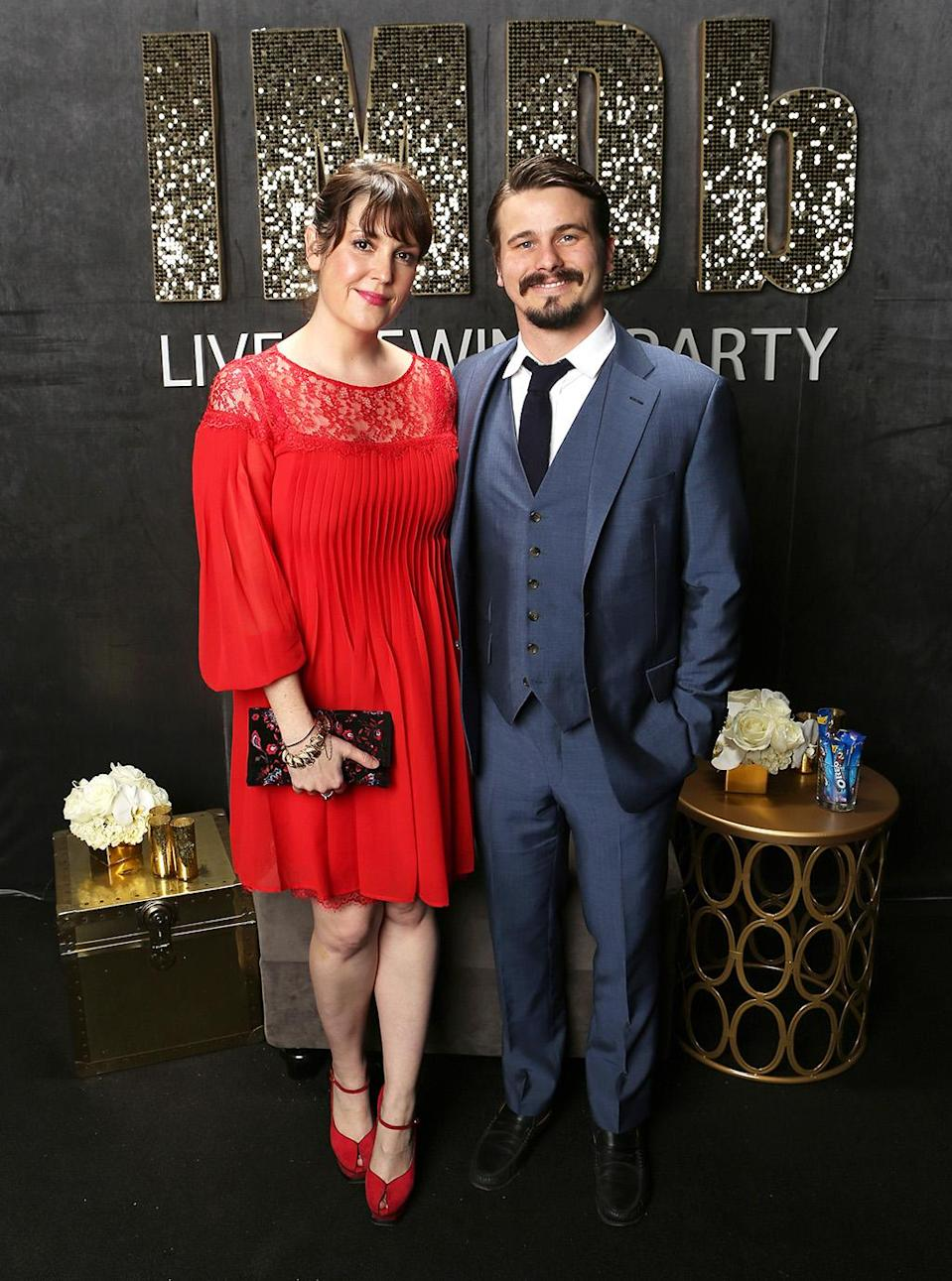 <p>Melanie Lynskey and Jason Ritter attend IMDb LIVE Viewing Party, presented by OREO chocolate candy bar on February 26, 2017 in Hollywood, California. (Photo by Rich Polk/Getty Images for IMDb.com) </p>