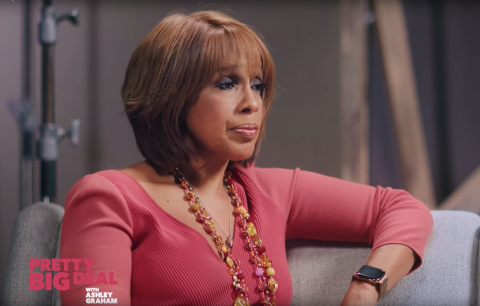 Gayle King talks about doing a 'sexy photo shoot' in college. (Photo: YouTube)