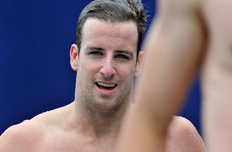 Austalian swimmer James Magnussen pictured after competing in the men's 50m freestyle during the Open de France in Bellerive-sur-Allier on July 5, 2014 (AFP Photo/Thierry Zoccolan)